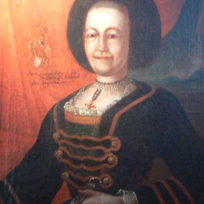Gemälde von Maria Franziska Zangerer, 2. Ehefrau von Johann Franz Zangerer
